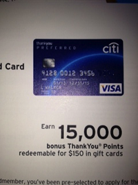 Earn 15,000 Points Credit Card offer