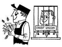 Credit Union Teller Window