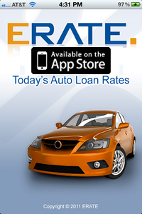 ERATE iPhone App Auto Loan Rates