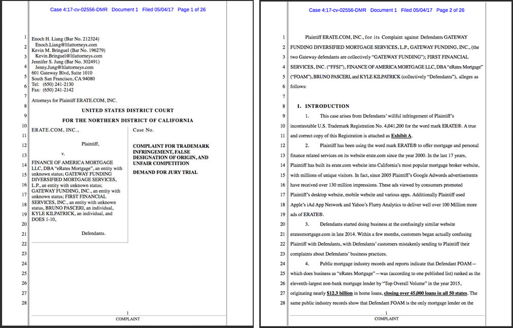 Trademark Infringement lawsuit